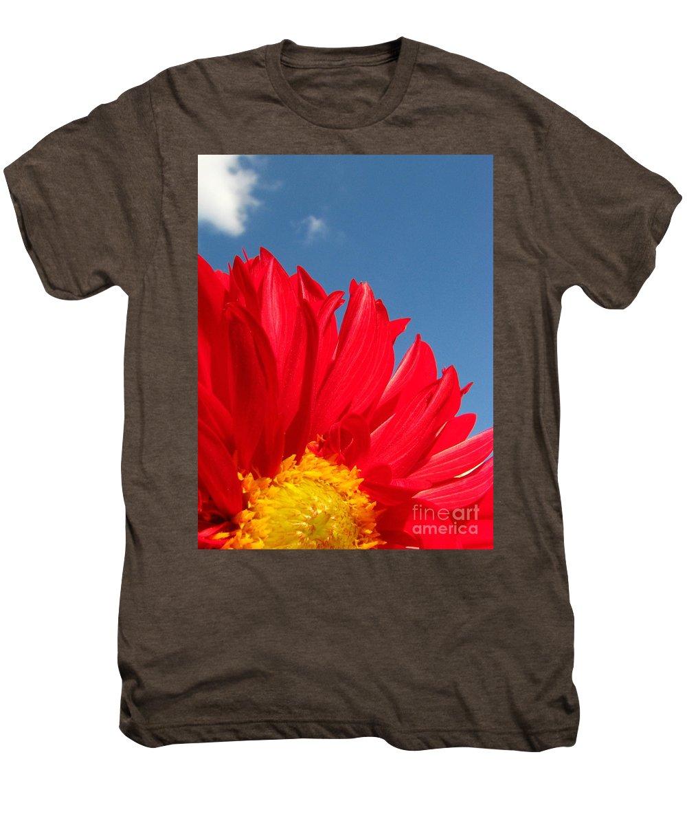 Dahlia Men's Premium T-Shirt featuring the photograph Dahlia by Amanda Barcon