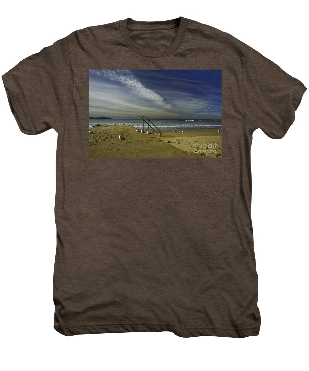 Beach Men's Premium T-Shirt featuring the photograph Dee Why Beach Sydney by Avalon Fine Art Photography