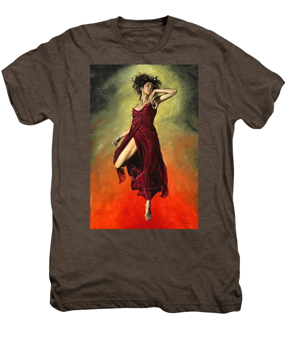 Dance Men's Premium T-Shirt featuring the painting Destiny's Dance by Richard Young