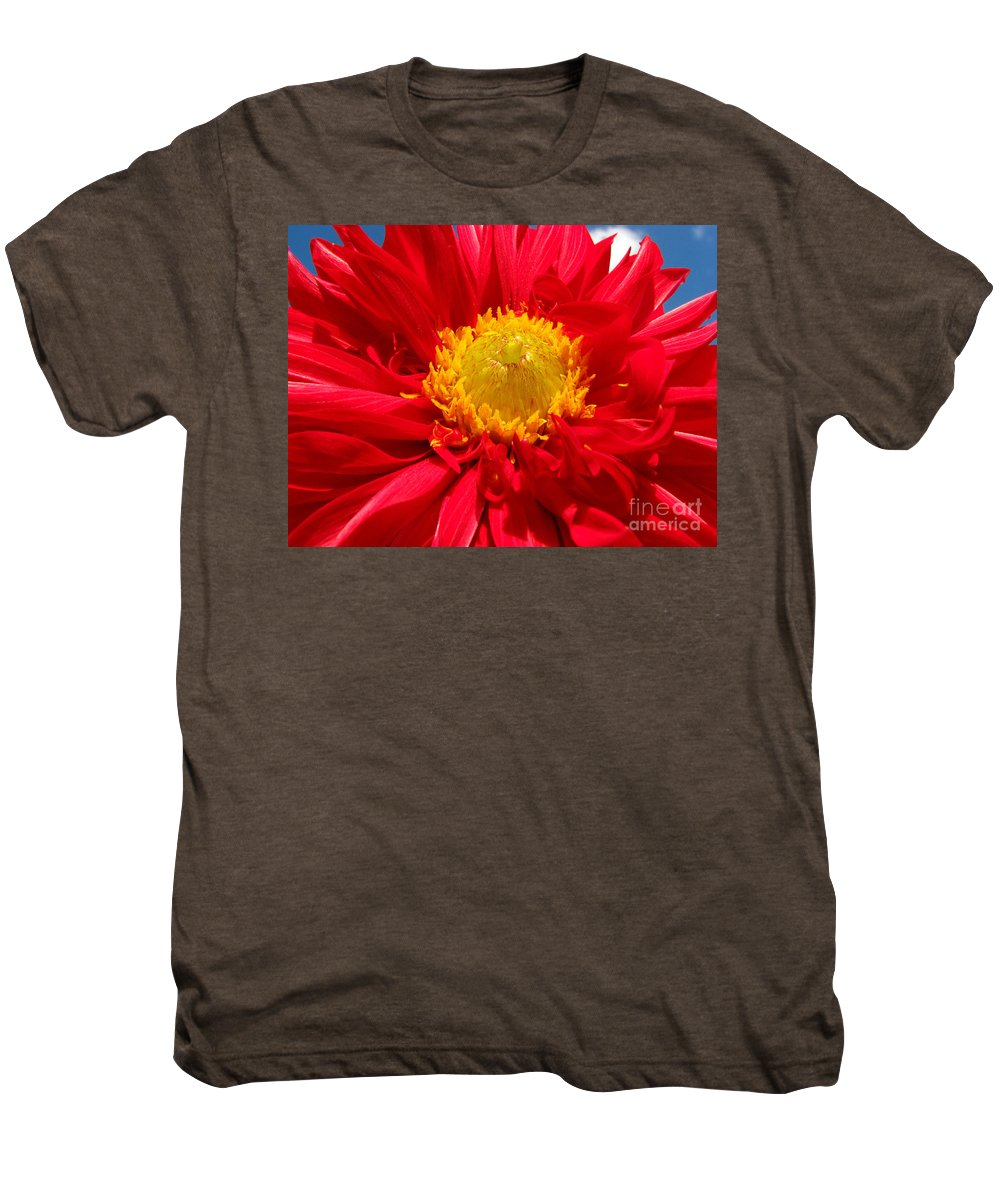 Dhalia Men's Premium T-Shirt featuring the photograph Dhalia by Amanda Barcon