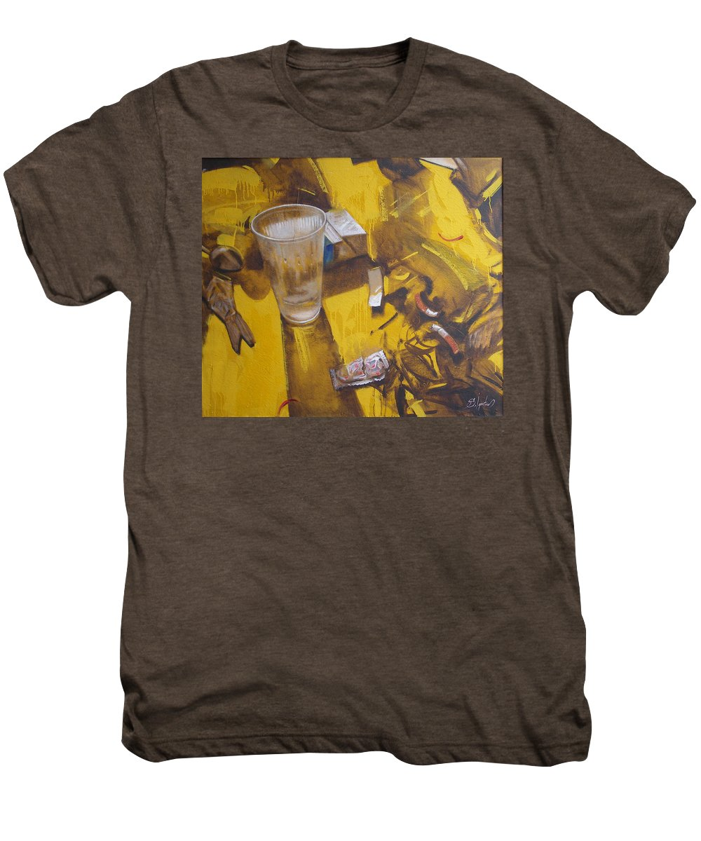 Disposable Men's Premium T-Shirt featuring the painting Disposable by Sergey Ignatenko