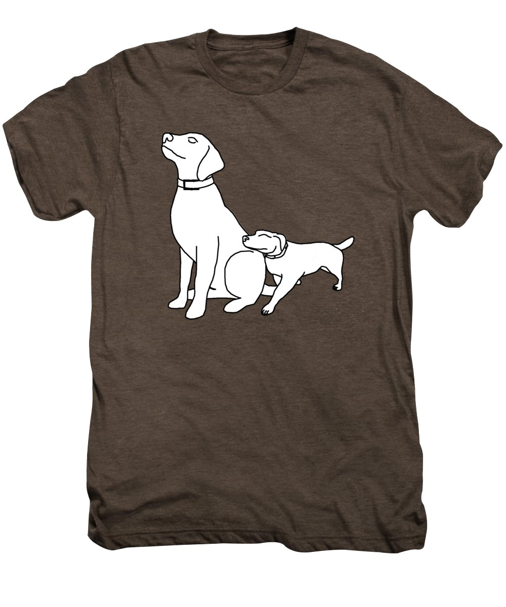 Dog Men's Premium T-Shirt featuring the digital art Dog Love Tee by Edward Fielding