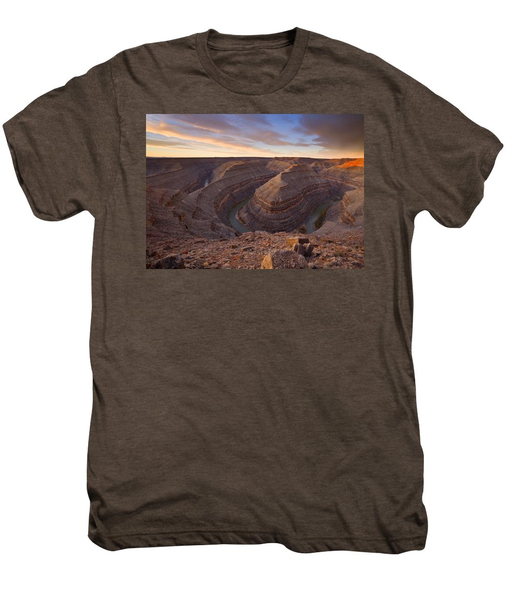 Goosenecks State Park Men's Premium T-Shirt featuring the photograph Doubleback by Mike Dawson