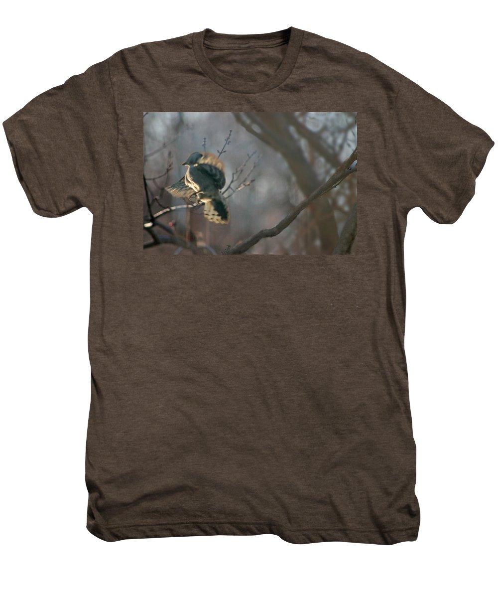 Nature Men's Premium T-Shirt featuring the photograph Downey Woodpecker by Steve Karol