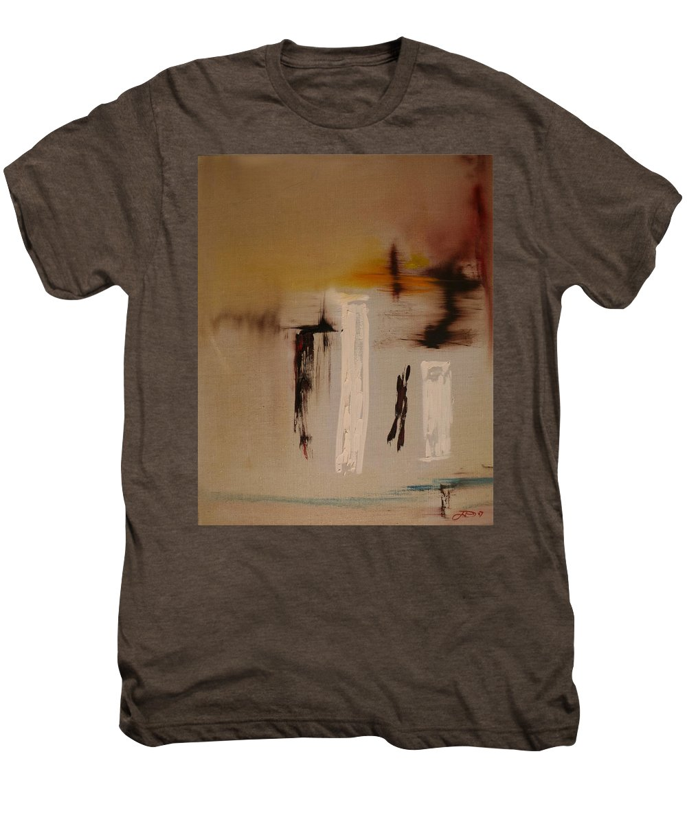 Abstract Men's Premium T-Shirt featuring the painting Easy by Jack Diamond
