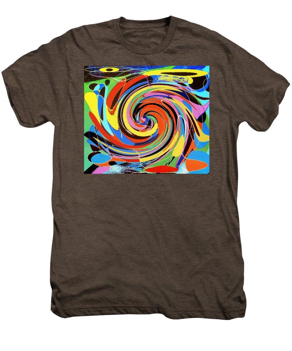 Men's Premium T-Shirt featuring the digital art Escaping The Vortex by Ian MacDonald