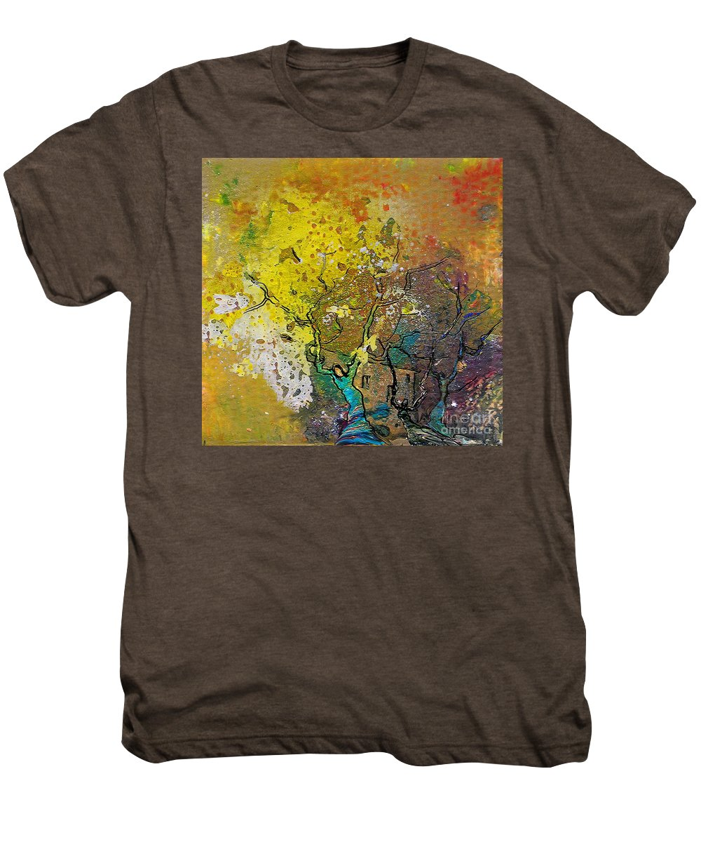 Miki Men's Premium T-Shirt featuring the painting Fantaspray 13 1 by Miki De Goodaboom