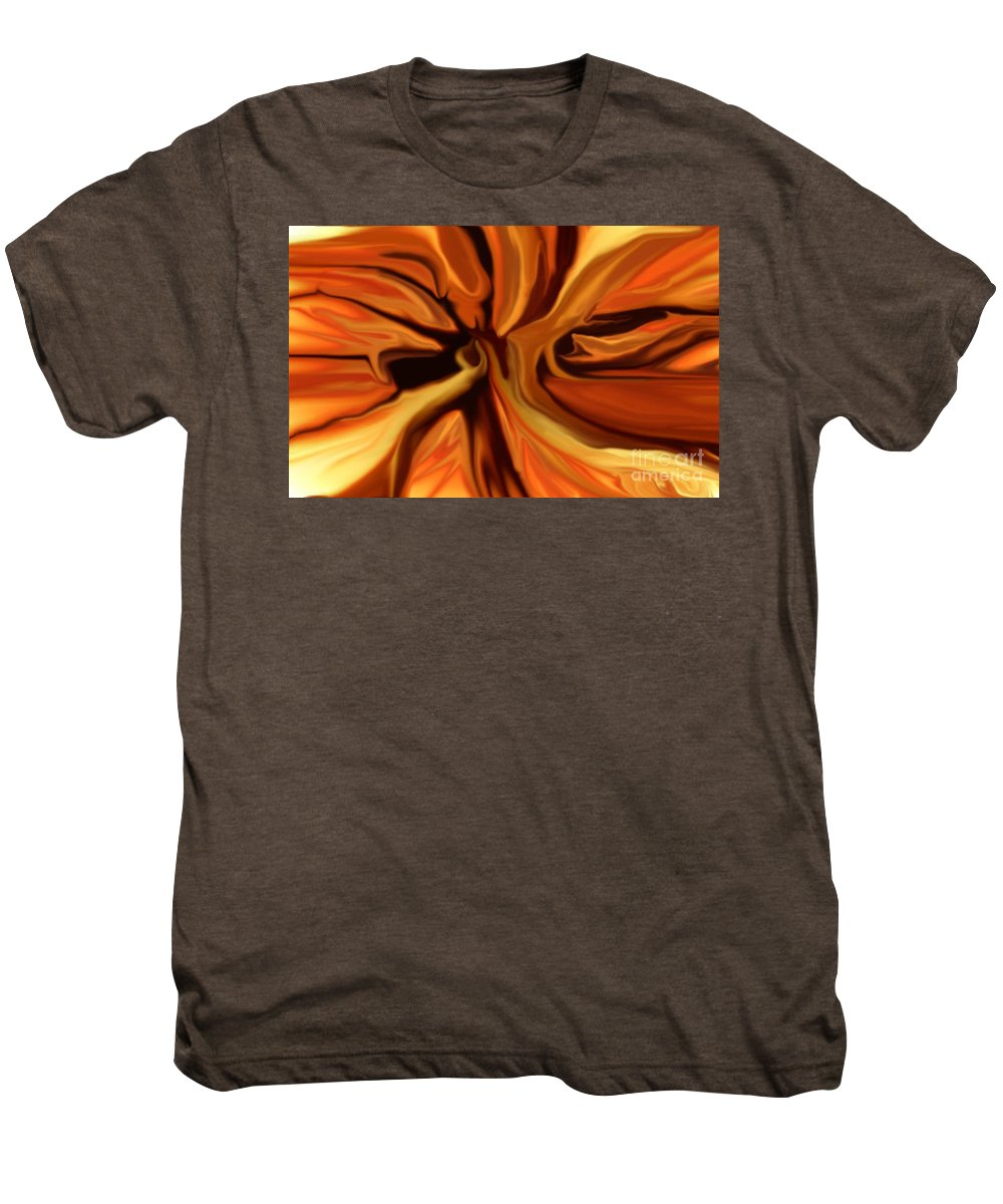 Abstract Men's Premium T-Shirt featuring the digital art Fantasy In Orange by David Lane