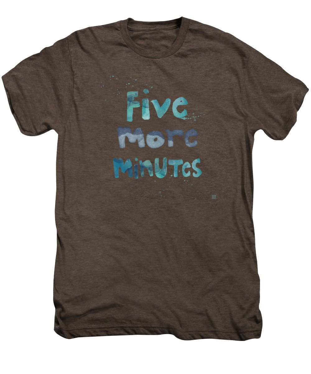 Sleep Men's Premium T-Shirt featuring the painting Five More Minutes by Linda Woods