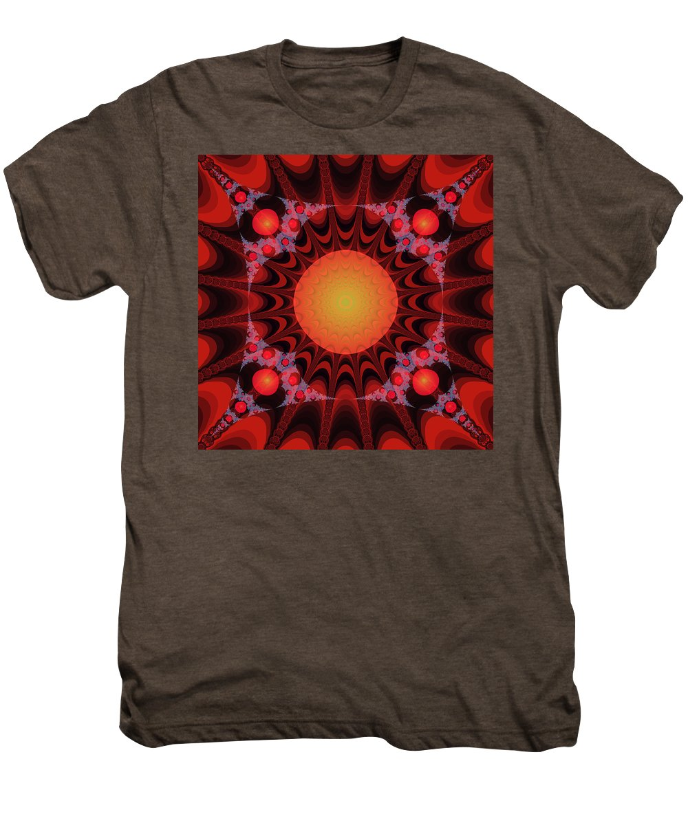 Fractal Men's Premium T-Shirt featuring the digital art Flaming Sol by Frederic Durville