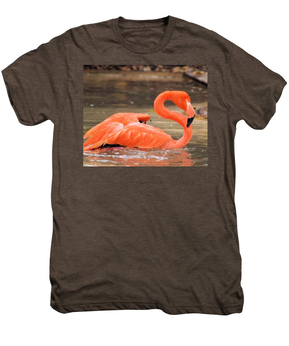 Flamingo Men's Premium T-Shirt featuring the photograph Flamingo by Gaby Swanson