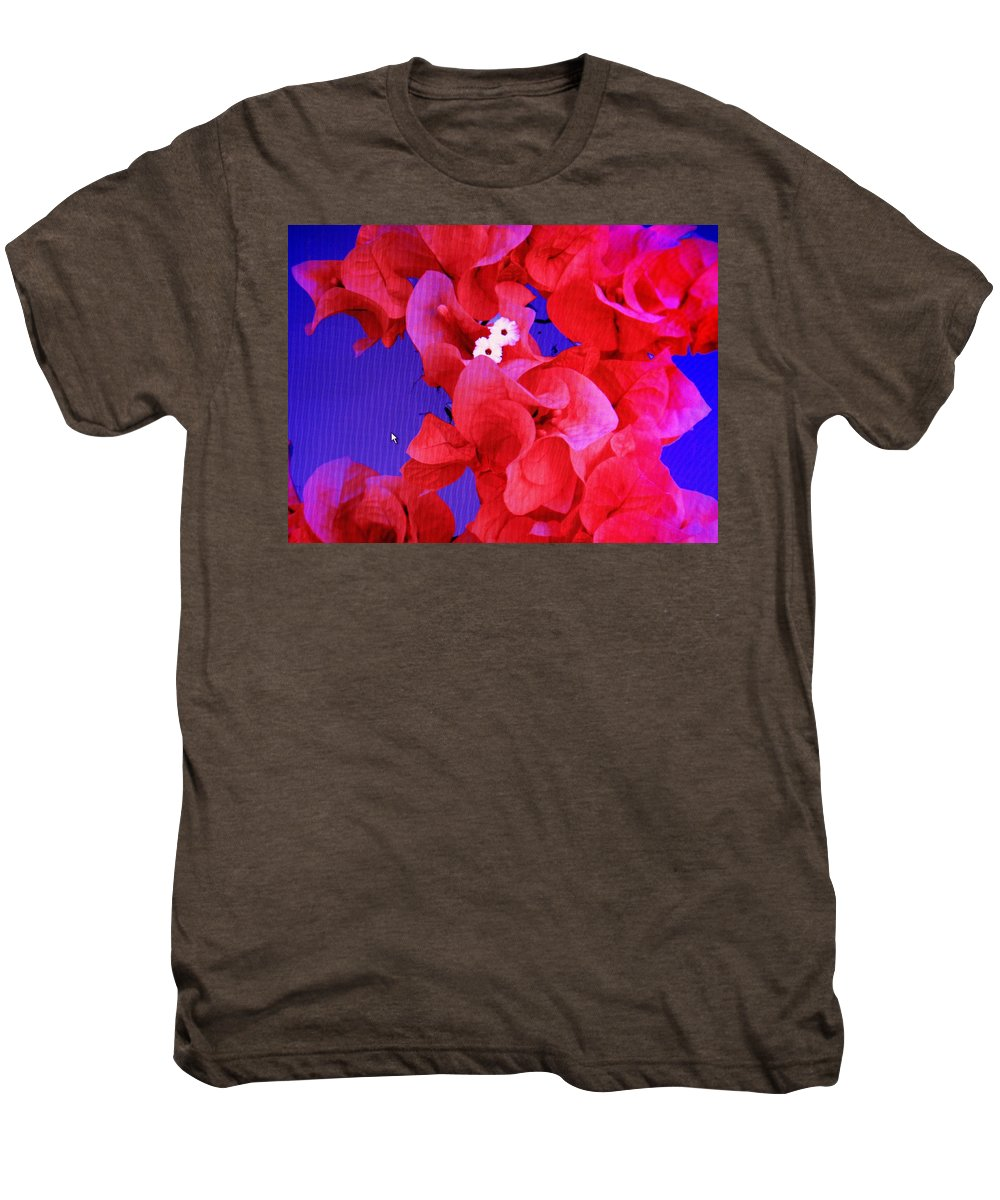 Red Men's Premium T-Shirt featuring the photograph Flower Fantasy by Ian MacDonald