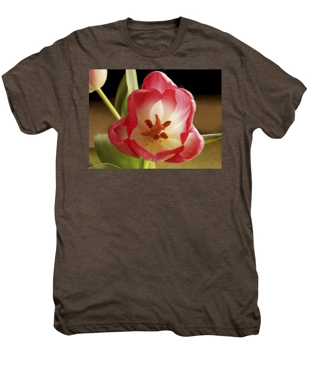 Flowers Men's Premium T-Shirt featuring the photograph Flower Tulip by Nancy Griswold