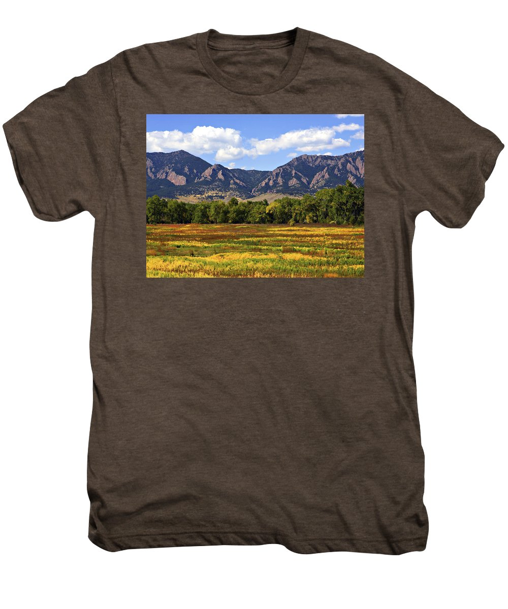 Fall Men's Premium T-Shirt featuring the photograph Foothills Of Colorado by Marilyn Hunt