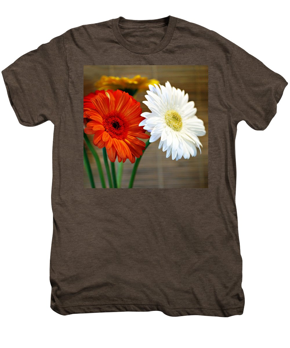 Flower Men's Premium T-Shirt featuring the photograph Gerbers by Marilyn Hunt