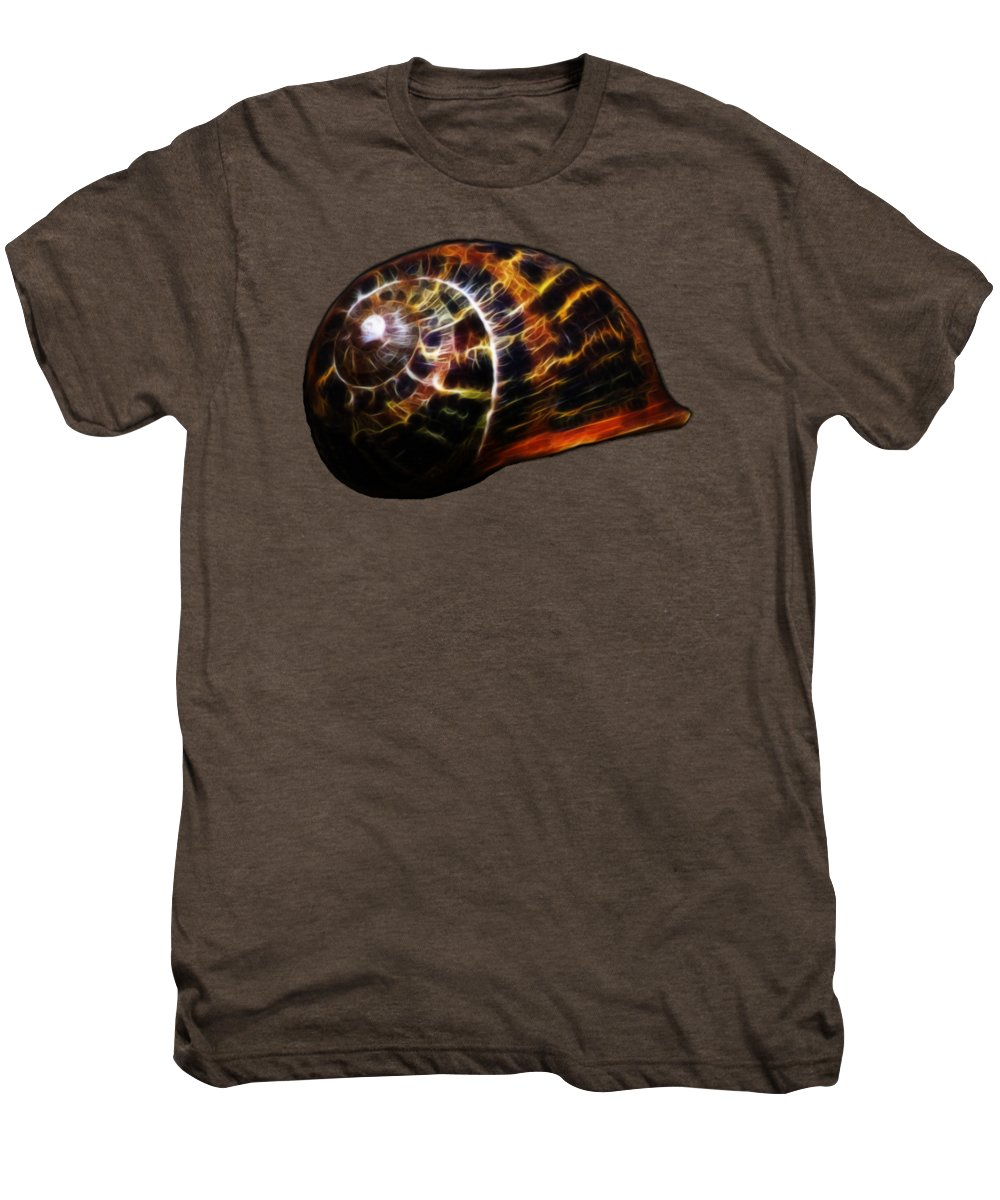 Shell Men's Premium T-Shirt featuring the photograph Glowing Shell by Shane Bechler