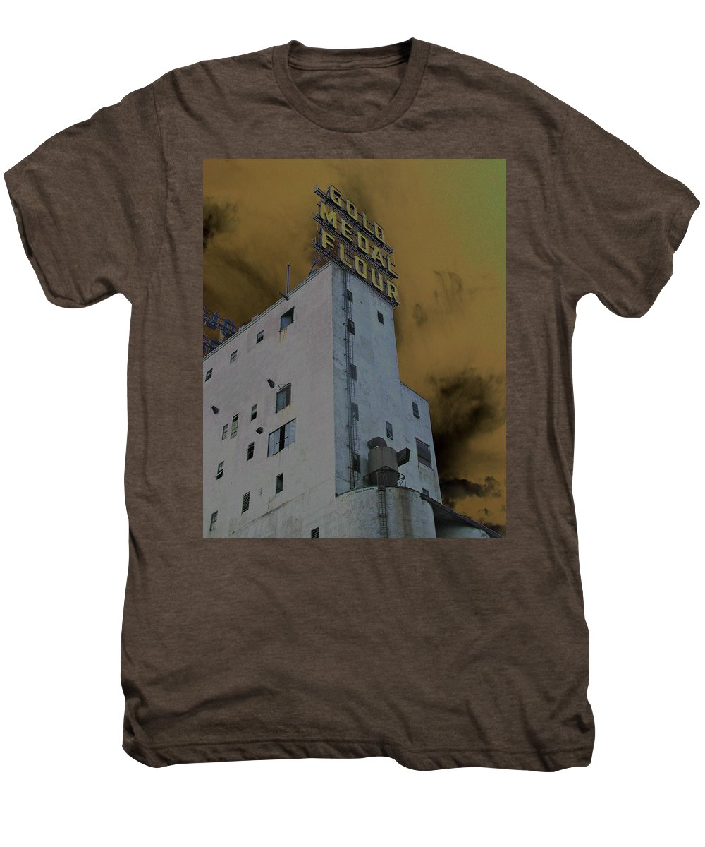 Minneapolis Men's Premium T-Shirt featuring the photograph Gold Medal Flour by Tom Reynen