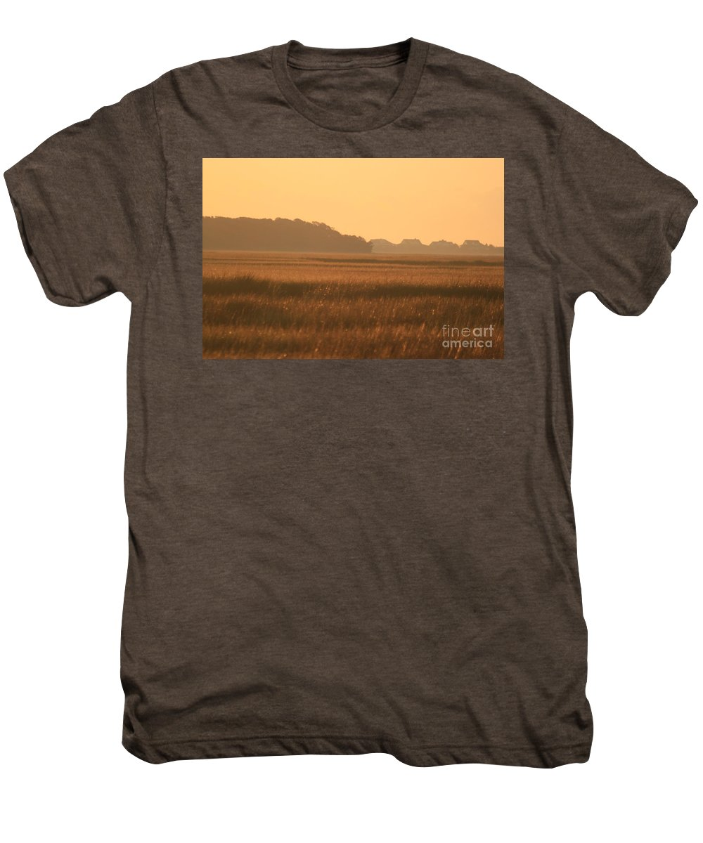 Marsh Men's Premium T-Shirt featuring the photograph Golden Marshes by Nadine Rippelmeyer