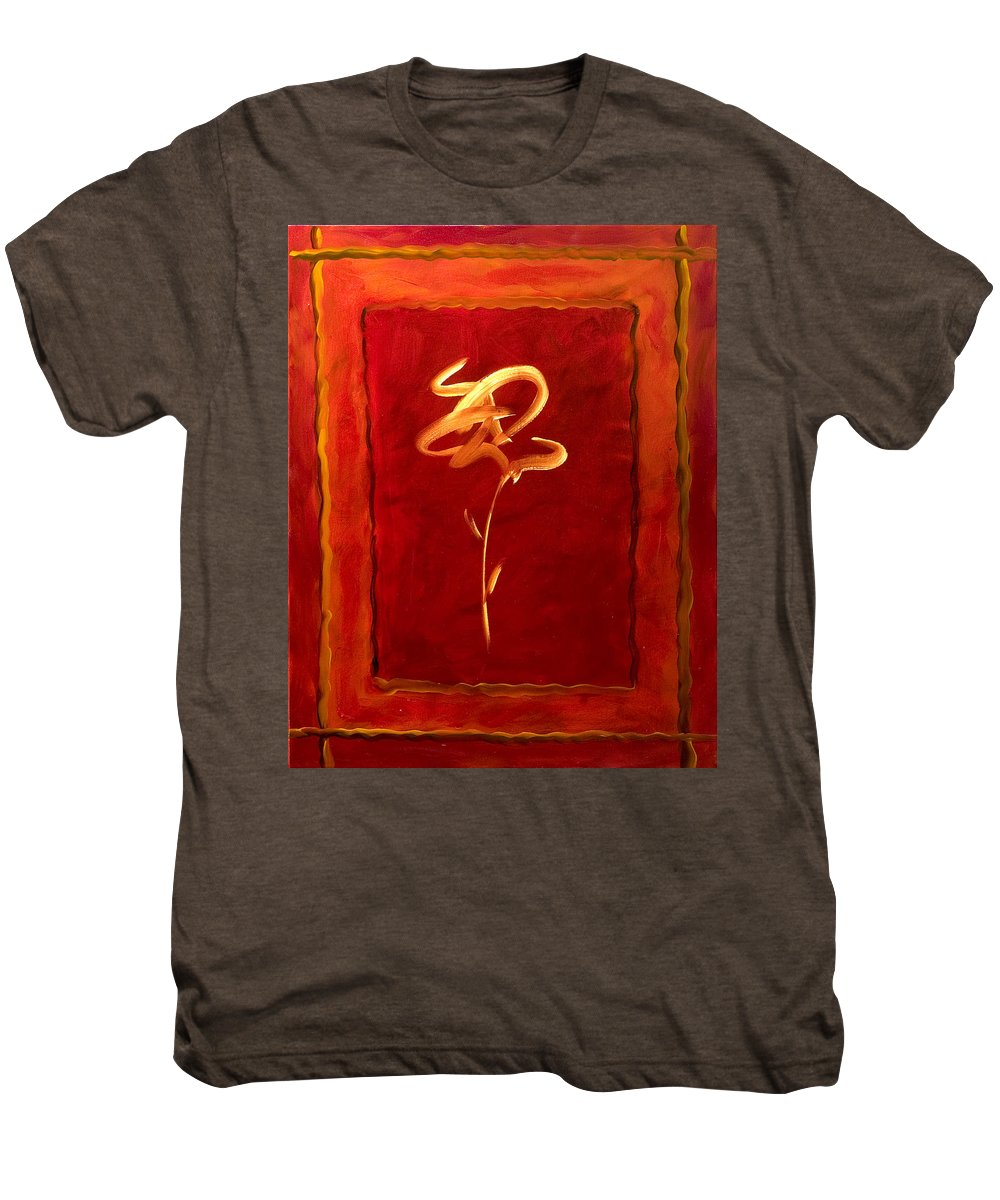Abstract Flower Men's Premium T-Shirt featuring the painting Gratitude by Shannon Grissom