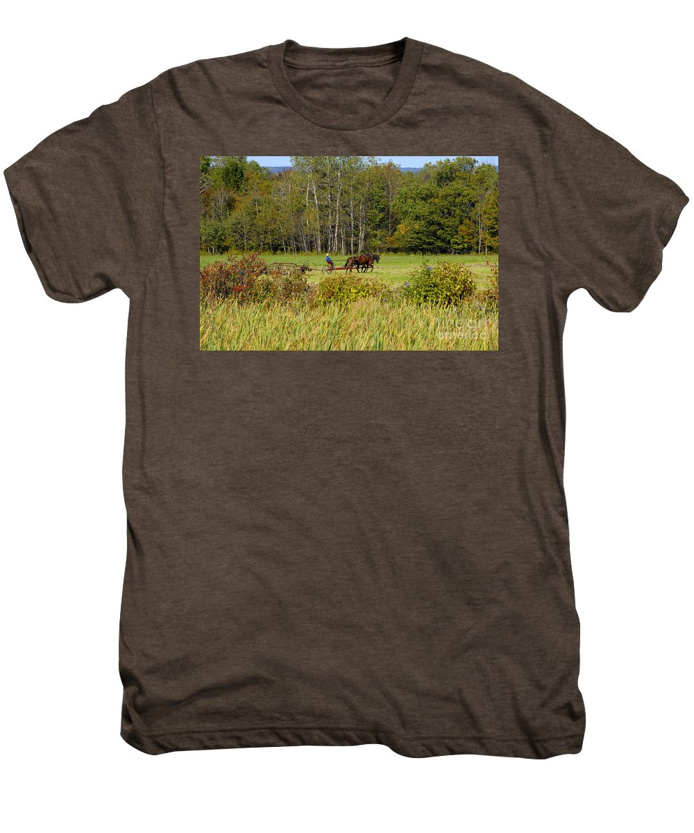 Green Farming Men's Premium T-Shirt featuring the photograph Green Farming by David Lee Thompson