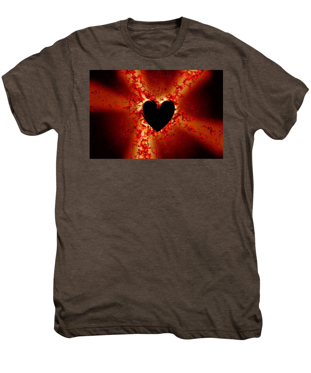 Grunge Men's Premium T-Shirt featuring the digital art Grunge Heart by Phill Petrovic