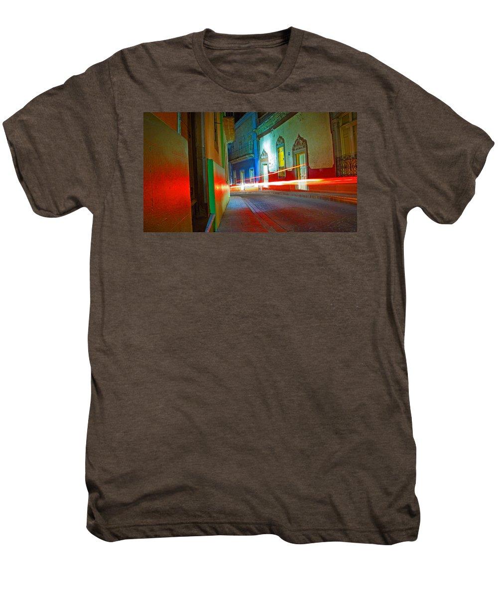Shadow Men's Premium T-Shirt featuring the photograph Guanajuato Night by Skip Hunt