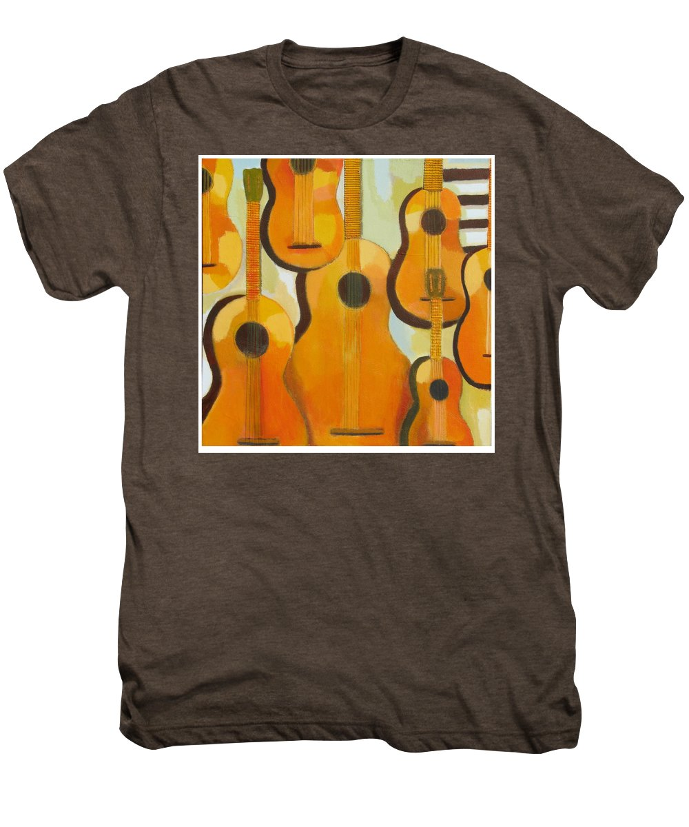 Abstract Men's Premium T-Shirt featuring the painting Guitars by Habib Ayat