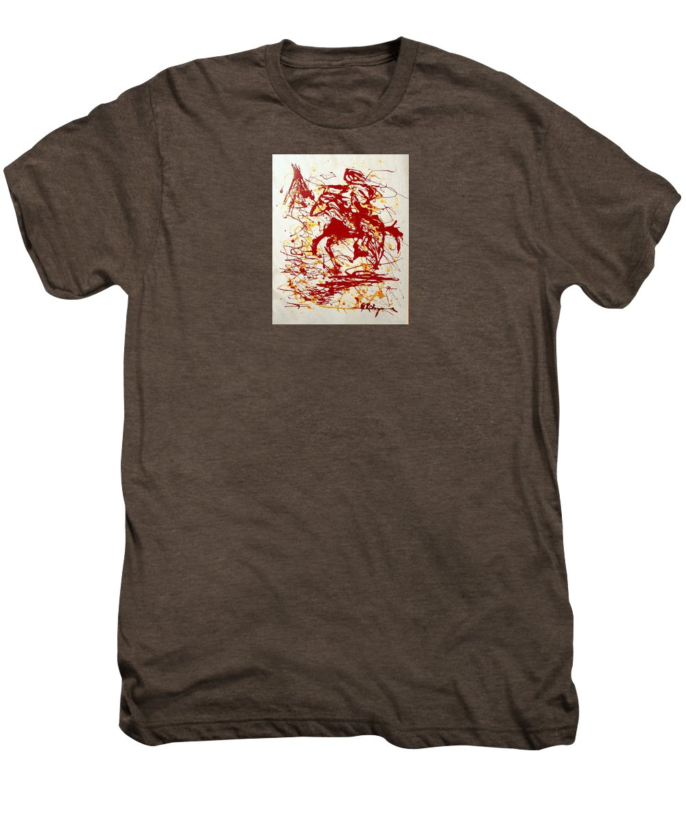 Indian Men's Premium T-Shirt featuring the painting History In Blood by J R Seymour
