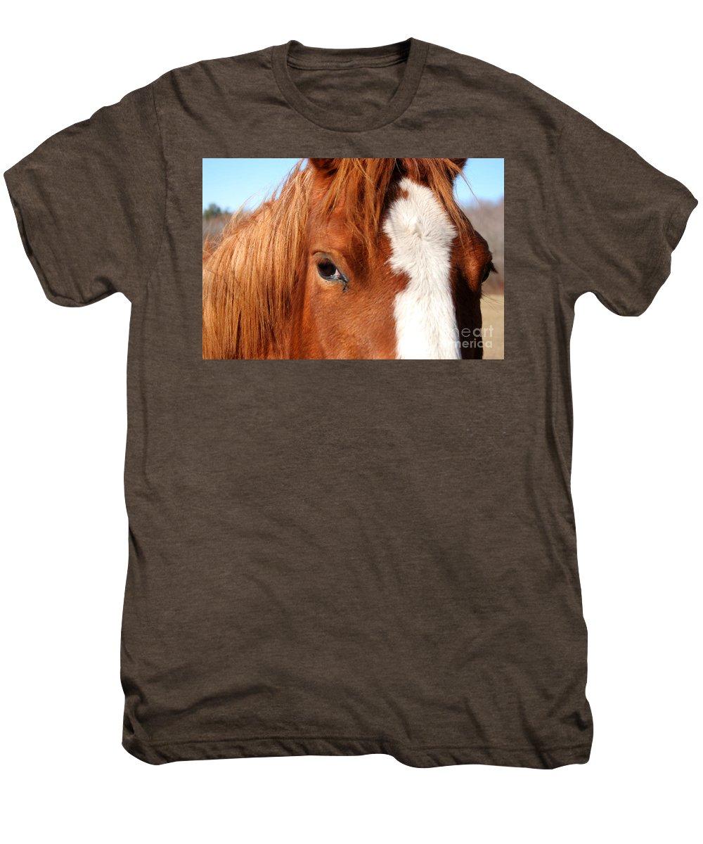Horse Men's Premium T-Shirt featuring the photograph Horse's Mane by Thomas Marchessault