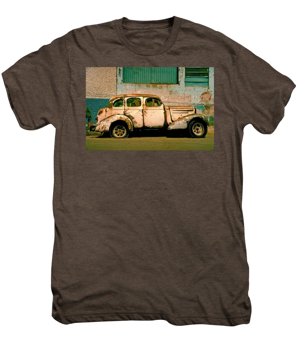 Skip Men's Premium T-Shirt featuring the photograph Jalopy by Skip Hunt