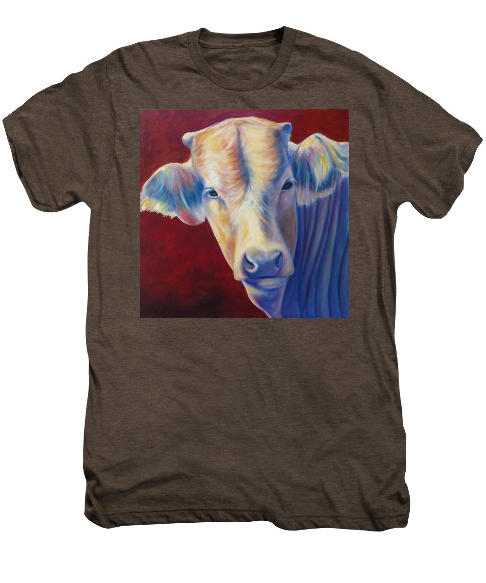 Bull Men's Premium T-Shirt featuring the painting Jorge by Shannon Grissom