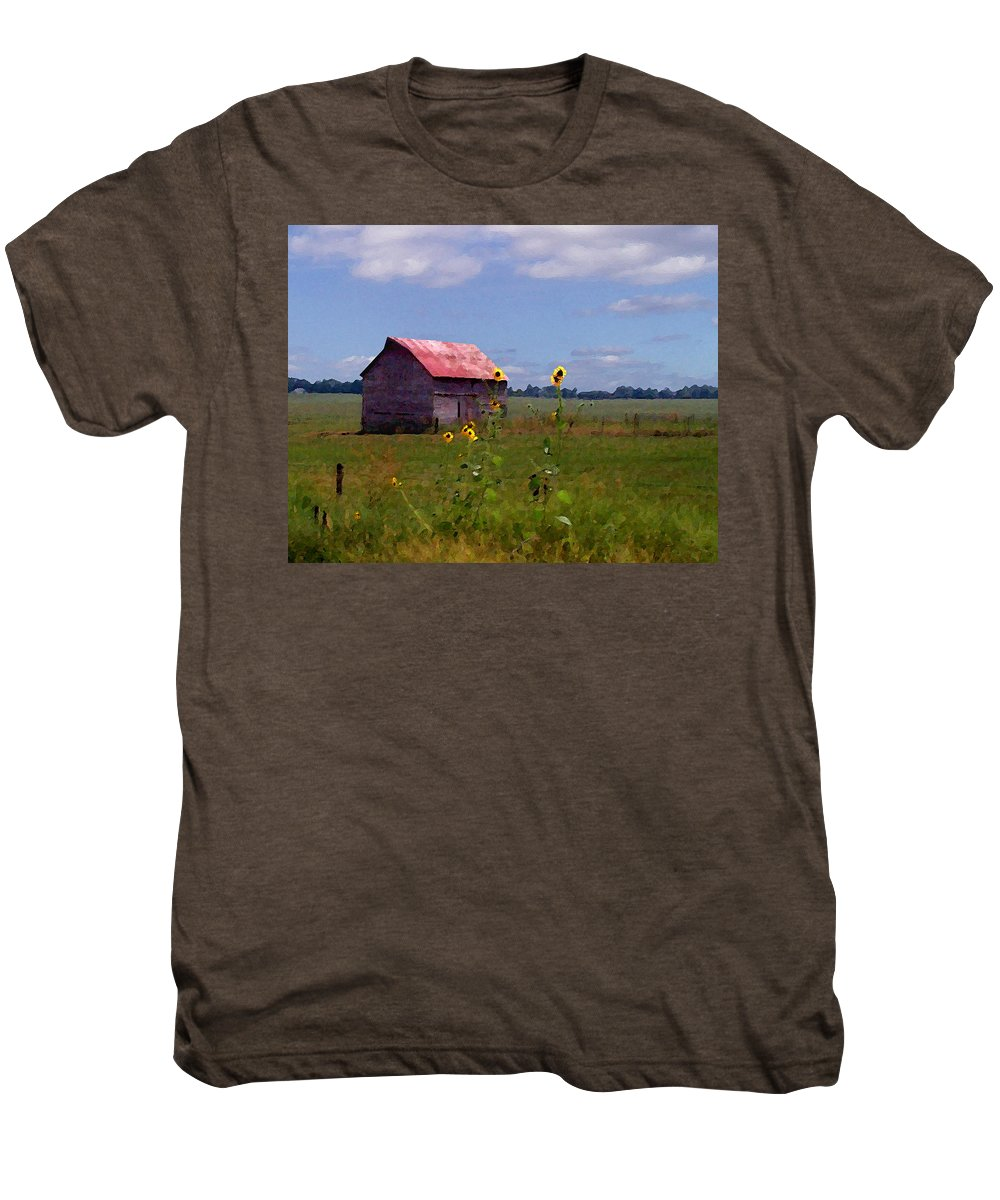 Landscape Men's Premium T-Shirt featuring the photograph Kansas Landscape by Steve Karol