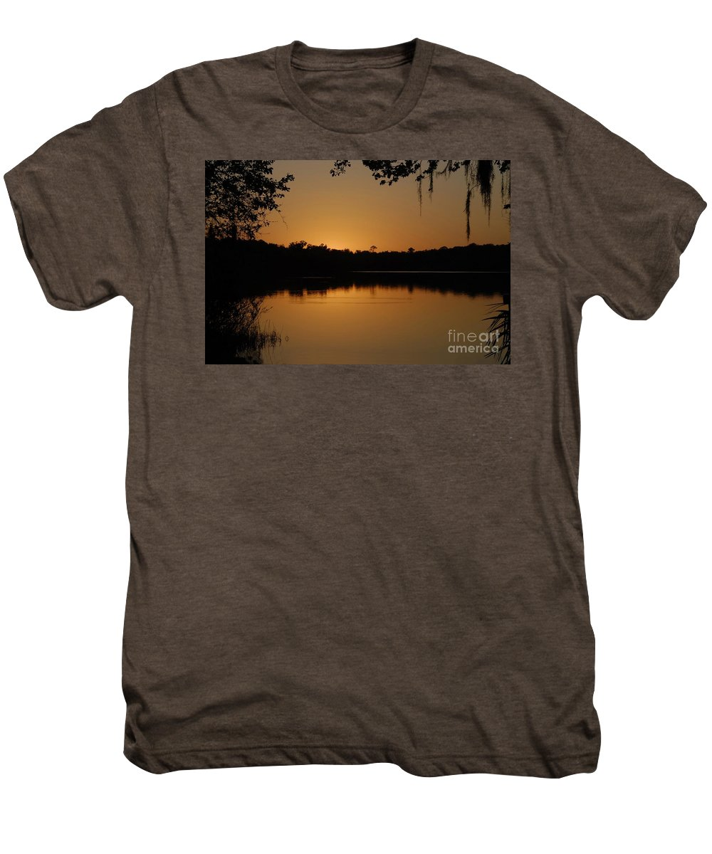 Lake Men's Premium T-Shirt featuring the photograph Lake Reflections by David Lee Thompson