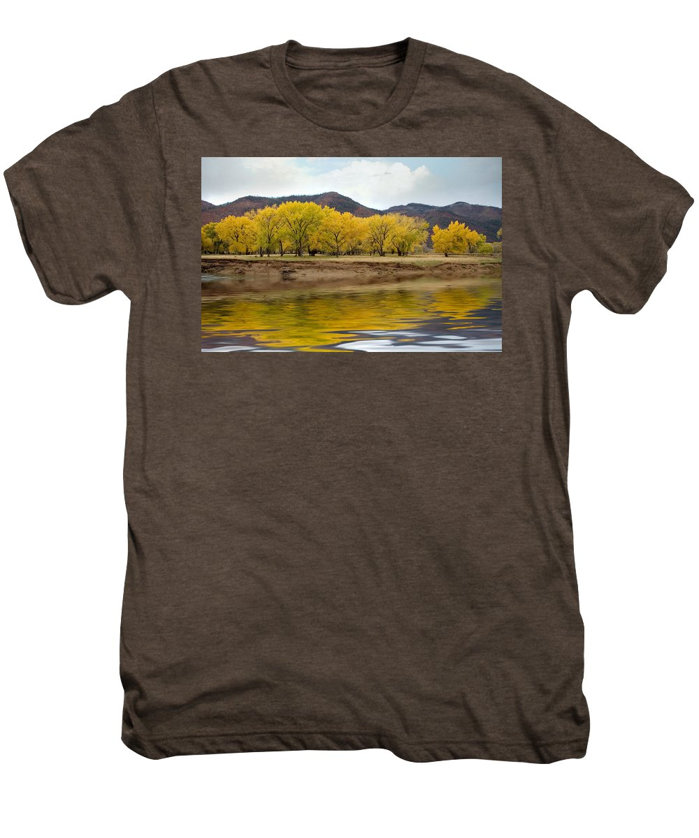 River Men's Premium T-Shirt featuring the photograph Las Animas Fall by Jerry McElroy