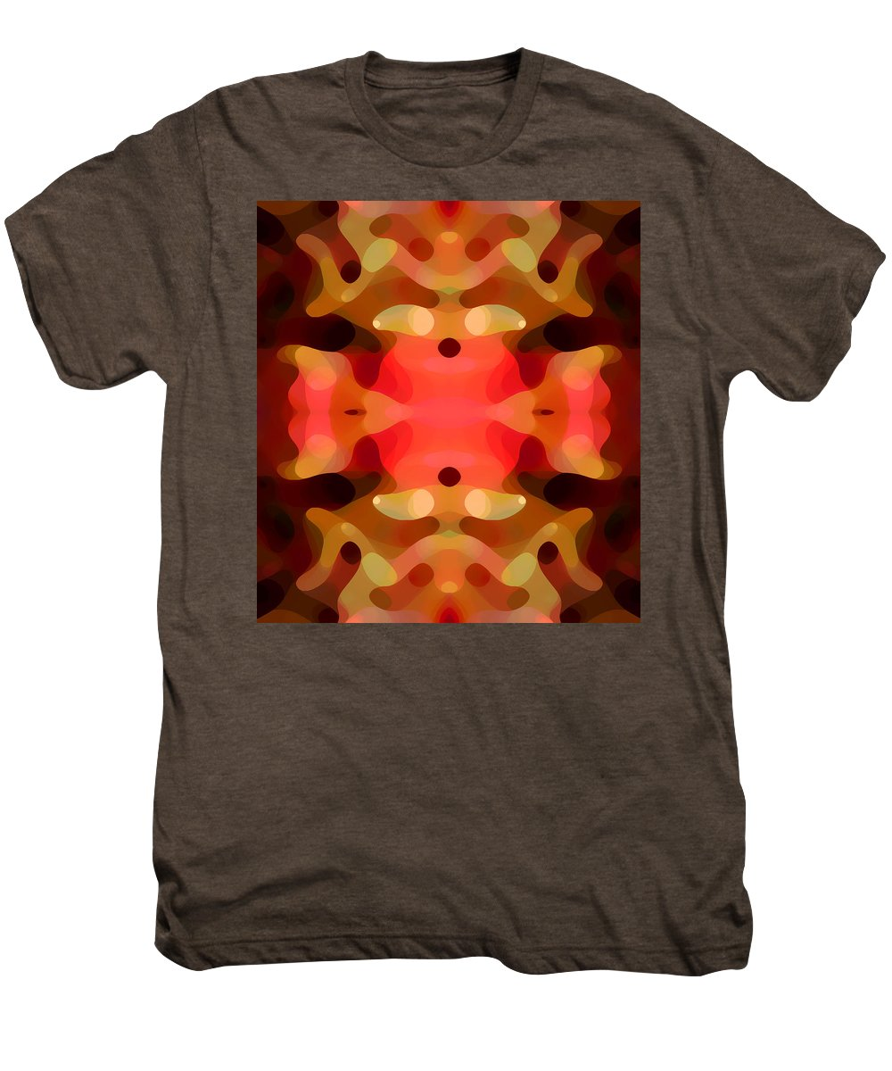 Abstract Painting Men's Premium T-Shirt featuring the digital art Las Tunas Abstract Pattern by Amy Vangsgard
