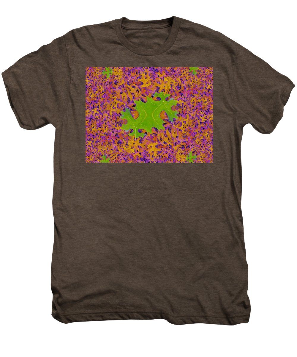 Leaves Men's Premium T-Shirt featuring the photograph Leaves In Fractal 2 by Tim Allen