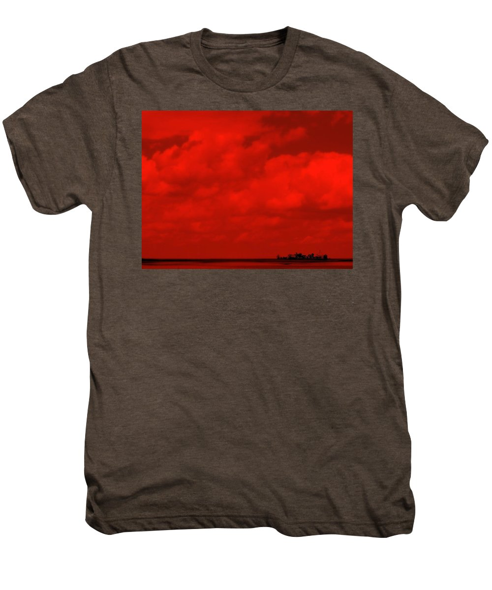 Sky Men's Premium T-Shirt featuring the photograph Life On Mars by Ed Smith