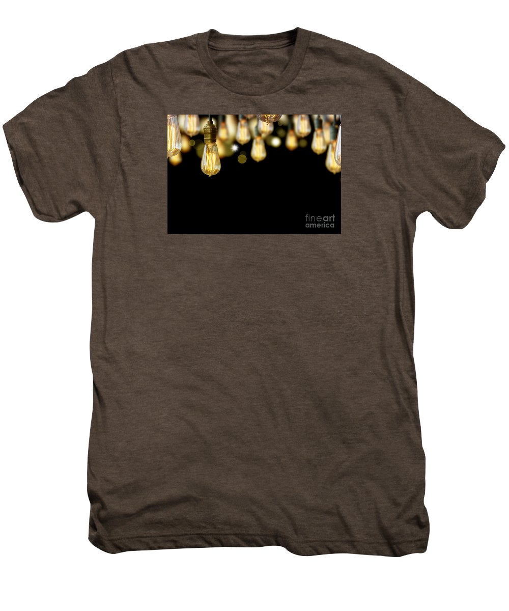 Antique Men's Premium T-Shirt featuring the photograph Light Bulb Background by Setsiri Silapasuwanchai