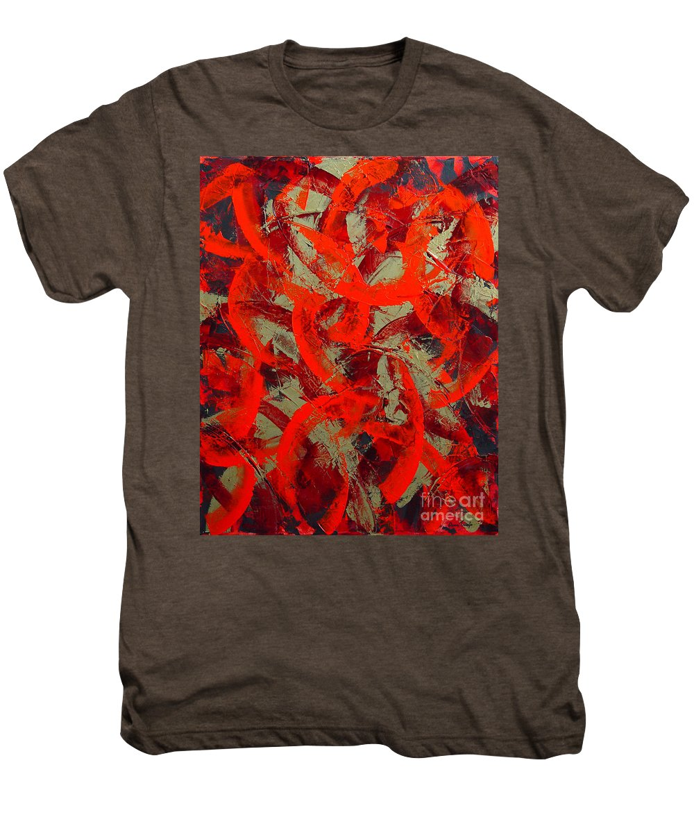 Abstract Men's Premium T-Shirt featuring the painting Love Trails by Dean Triolo