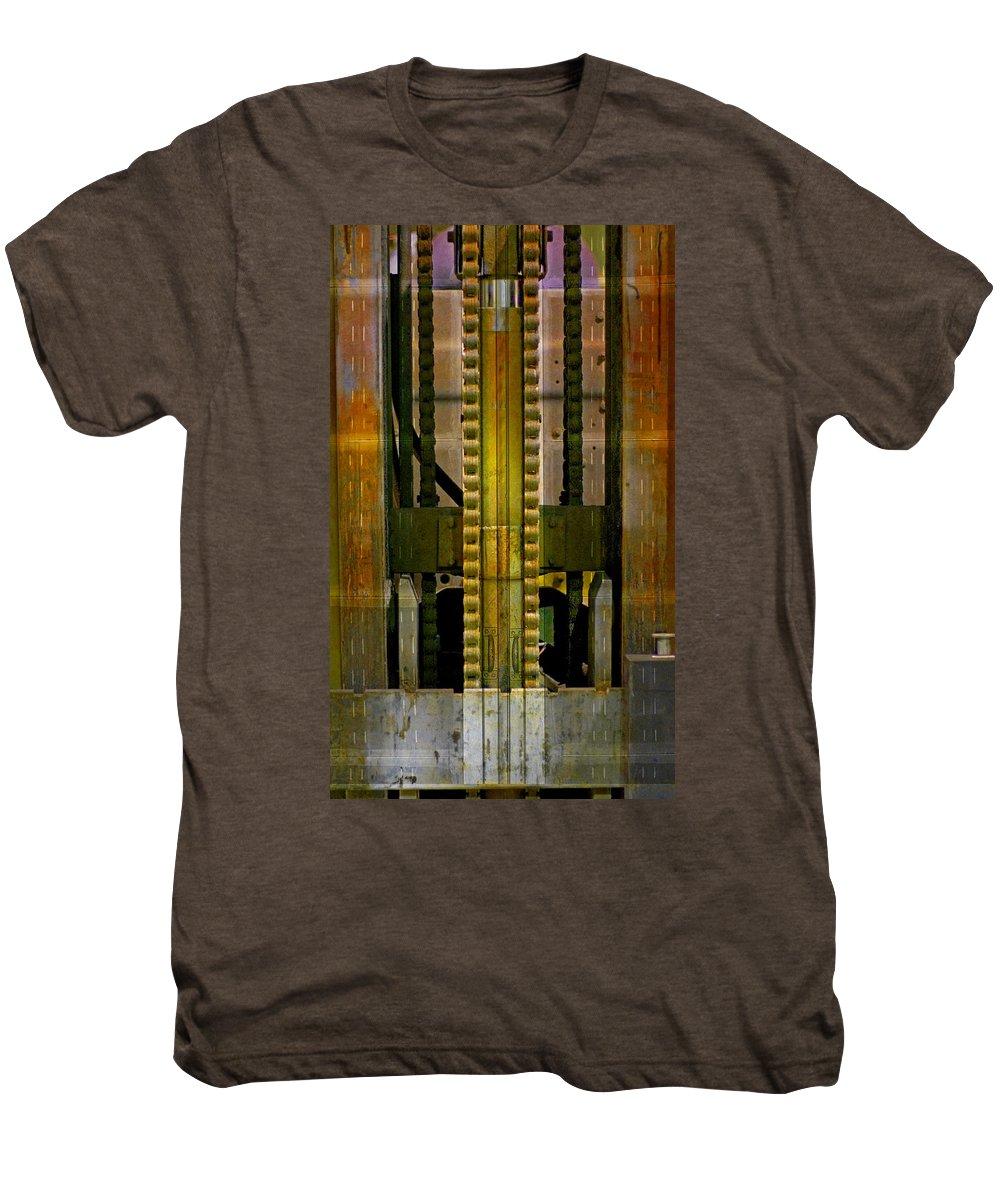 Texture Men's Premium T-Shirt featuring the photograph Machina by Skip Hunt