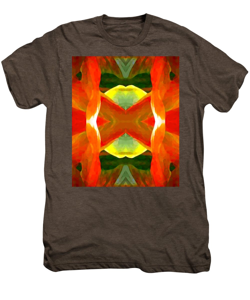 Abstract Men's Premium T-Shirt featuring the painting Meditation by Amy Vangsgard