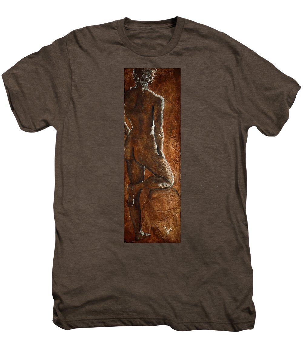 Nude Men's Premium T-Shirt featuring the painting Mickey Xx by Richard Hoedl