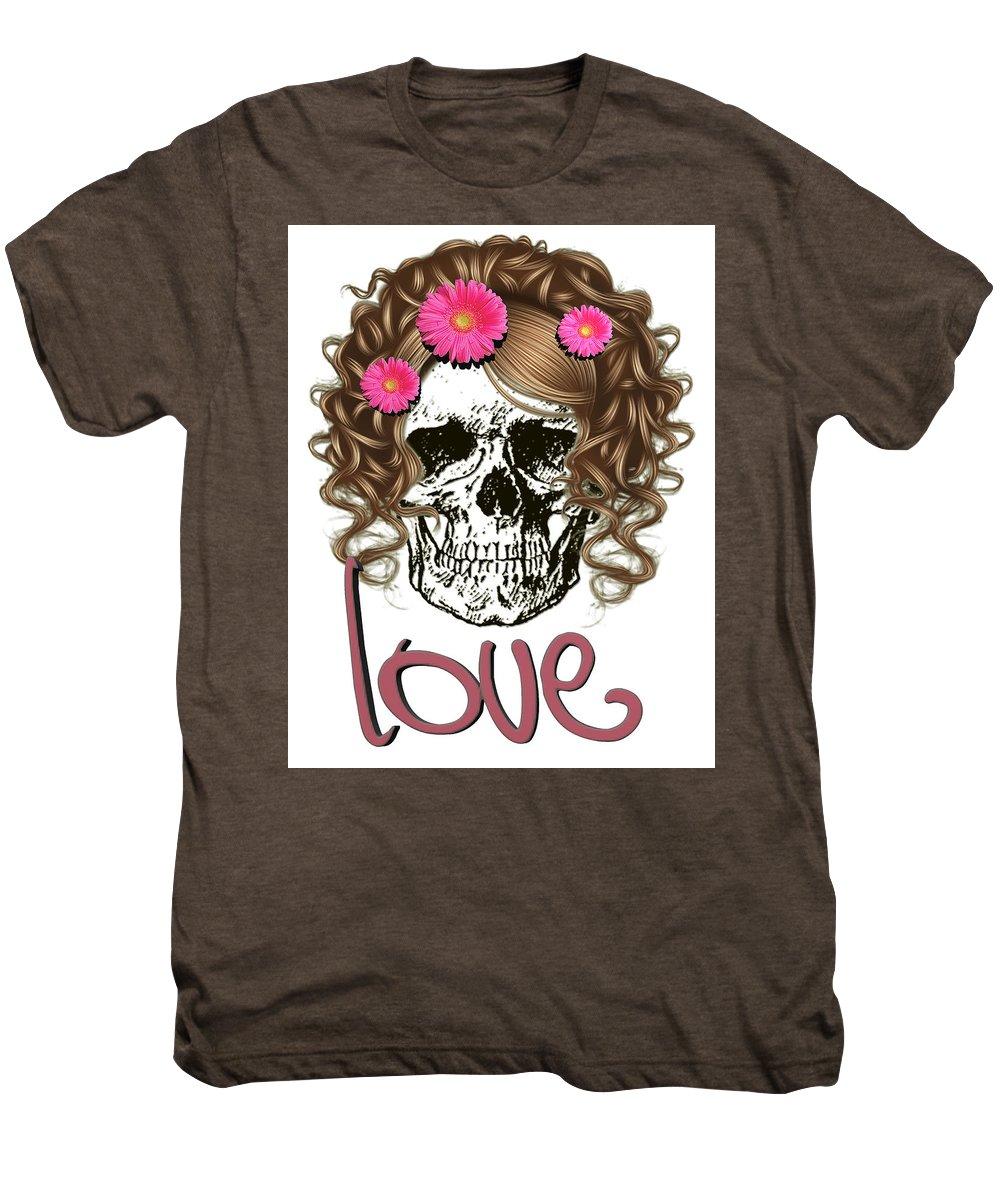 df1c45ca08f1 Love Men's Premium T-Shirt featuring the digital art Miss Skull by Muge  Basak