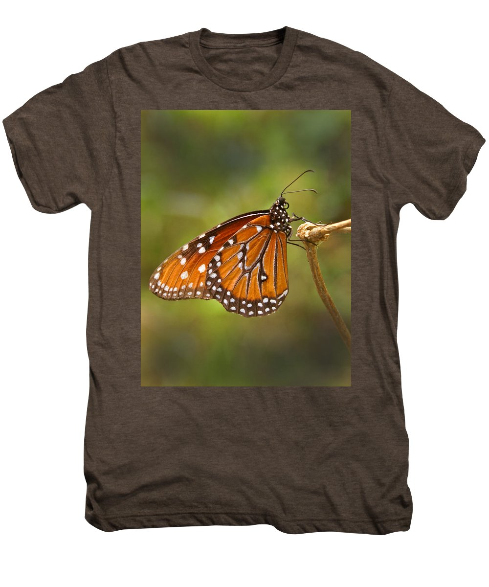 Monarch Men's Premium T-Shirt featuring the photograph Monarch Butterfly by Heather Coen
