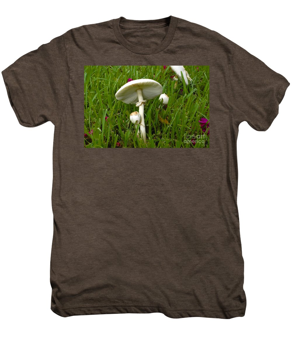 Mushrooms Men's Premium T-Shirt featuring the photograph Morning Surprise by David Lee Thompson