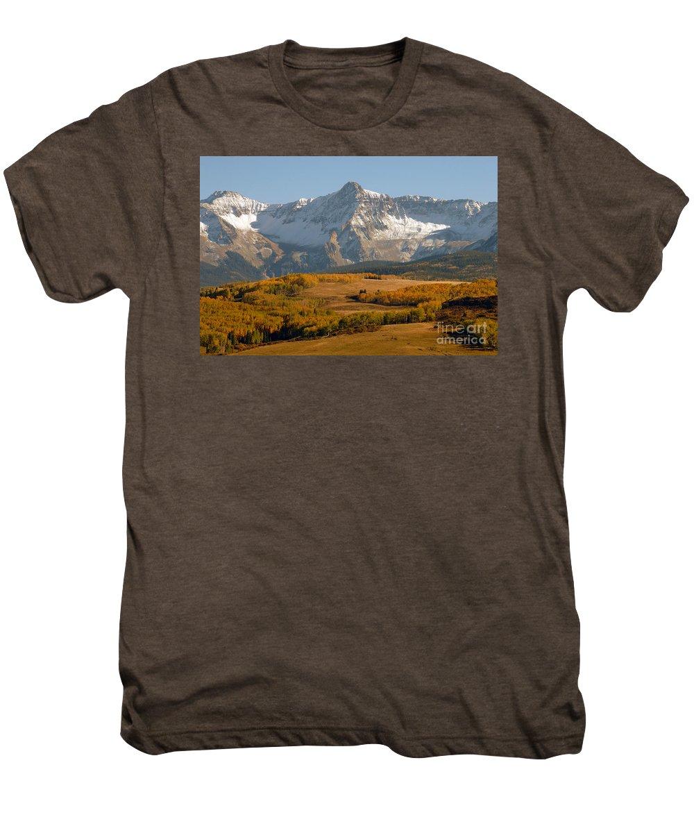 Mount Sneffels Men's Premium T-Shirt featuring the photograph Mount Sneffels by David Lee Thompson