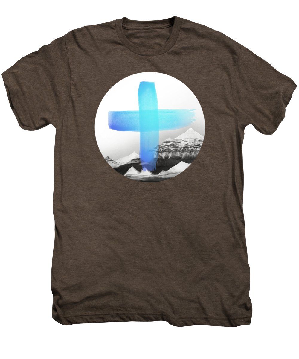 Mountains Men's Premium T-Shirt featuring the painting Mountains by Amy Hamilton