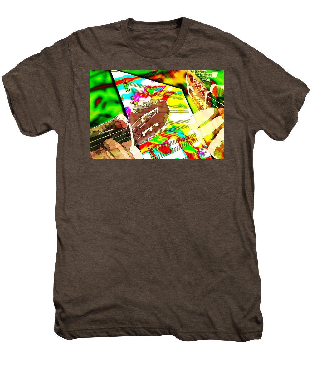 Guitar Men's Premium T-Shirt featuring the digital art Music Creation by Phill Petrovic
