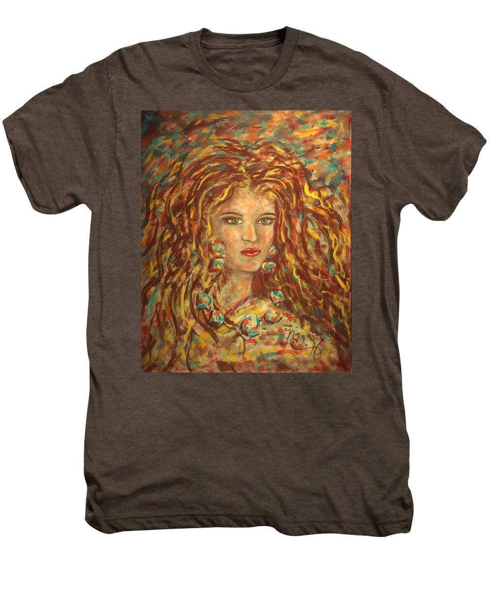 Natashka Men's Premium T-Shirt featuring the painting Natashka by Natalie Holland