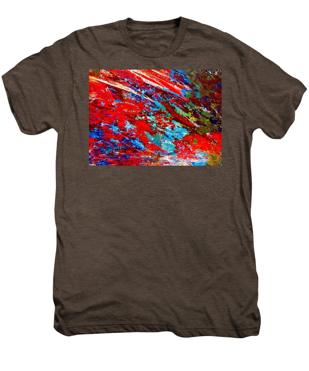 Abstract Men's Premium T-Shirt featuring the painting Nature Harmony by Natalie Holland